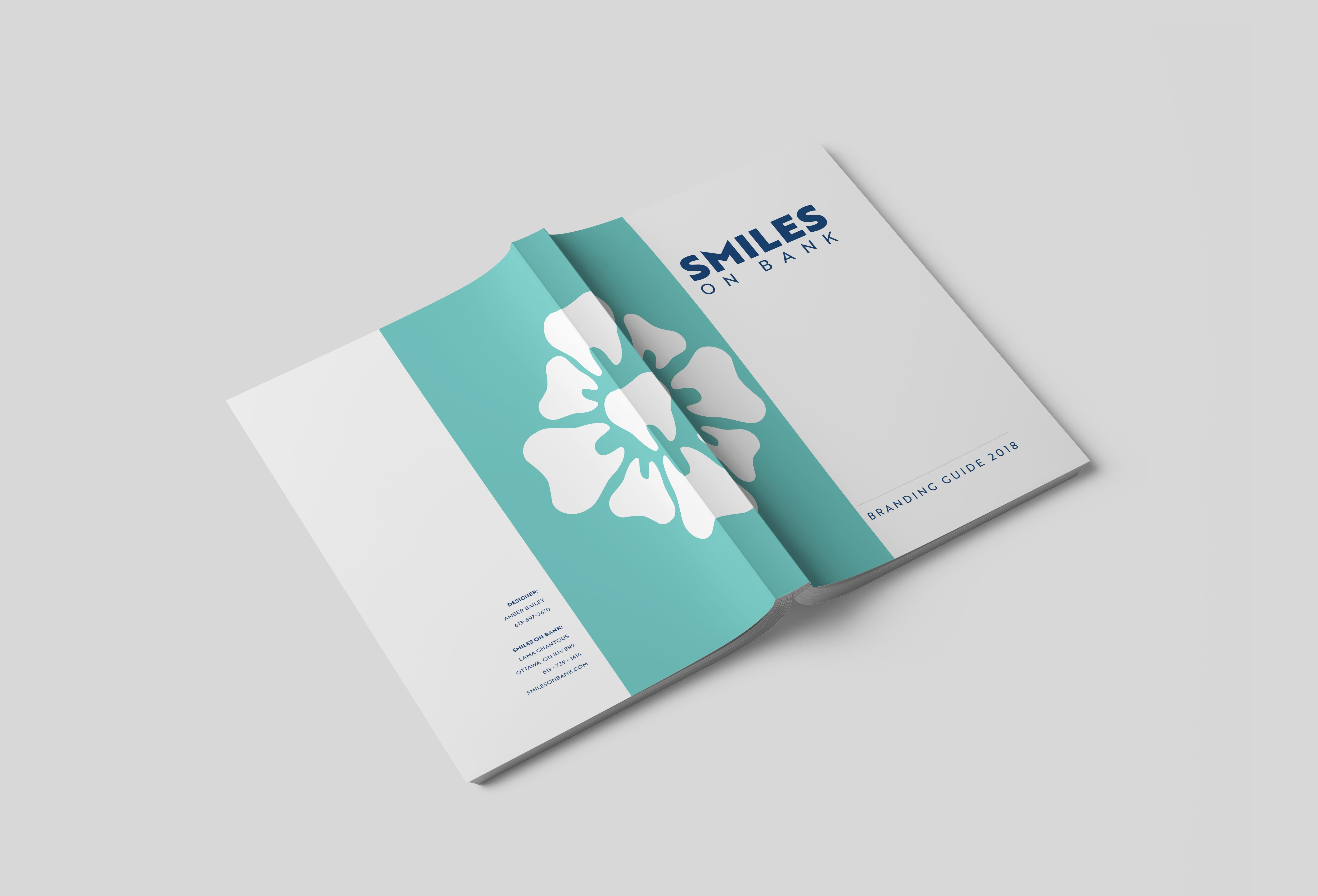 Front cover of the branding guidelines mockup