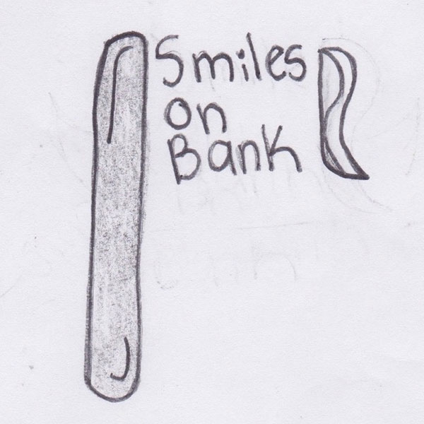 Wordmark creating the bristles in the toothbrush logo sketch